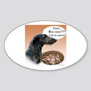 Deerhound Turkey Oval Sticker