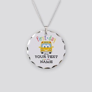Custom First Day Necklace Circle Charm