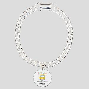 Custom First Day Charm Bracelet, One Charm
