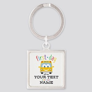 Custom First Day Square Keychain