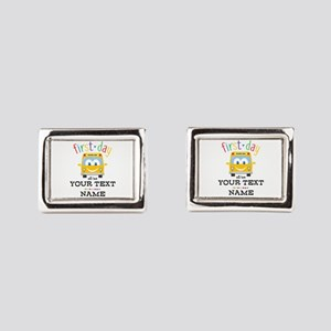 Custom First Day Rectangular Cufflinks