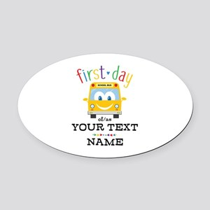 Custom First Day Oval Car Magnet
