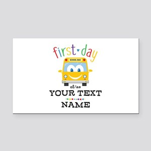 Custom First Day Rectangle Car Magnet
