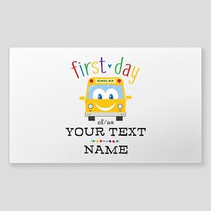 Custom First Day Sticker (Rectangle)