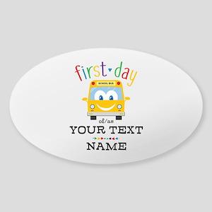 Custom First Day Sticker (Oval)