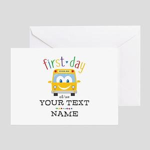 Custom First Day Greeting Card