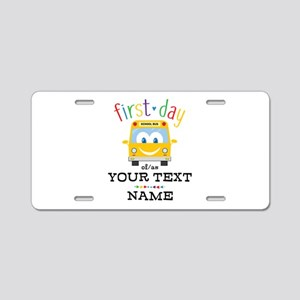 Custom First Day Aluminum License Plate