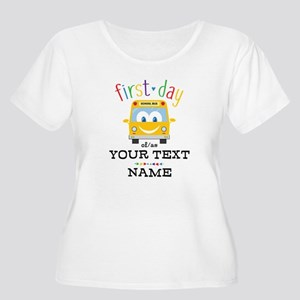 Custom First Women's Plus Size Scoop Neck T-Shirt