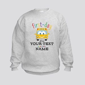 Custom First Day Kids Sweatshirt