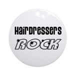 Hairdressers Rock Christmas Tr Ornament (Round)