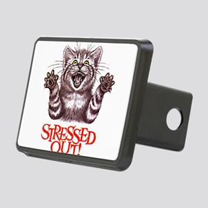 Stressed Out Rectangular Hitch Cover