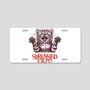 Stressed Out Aluminum License Plate