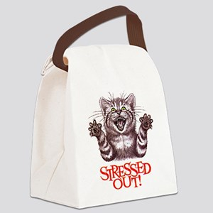 Stressed Out Canvas Lunch Bag