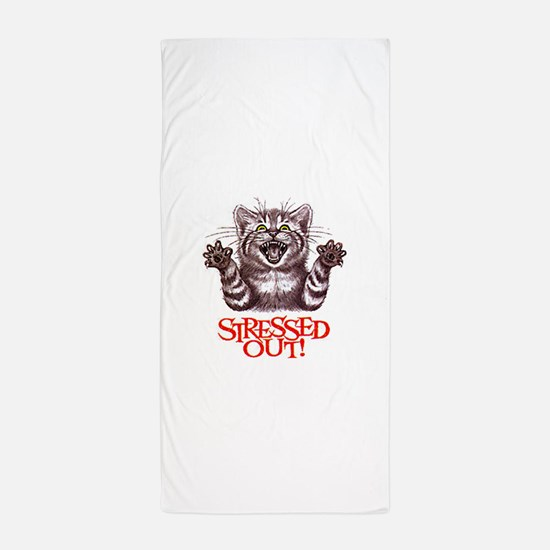 Stressed Out Beach Towel