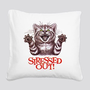 Stressed Out Square Canvas Pillow
