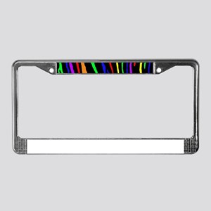 Rainbow Tiger Stripes License Plate Frame