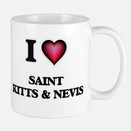 I love Saint Kitts & Nevis Mugs