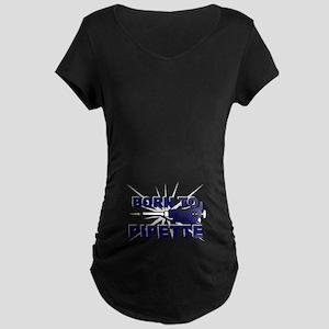 Born to Pipette Maternity Dark T-Shirt