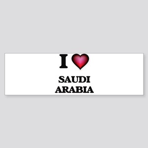 I love Saudi Arabia Bumper Sticker