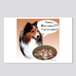 Sheltie(sable) Turkey Postcards (Package of 8)