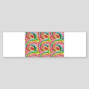 Candy colors Bumper Sticker