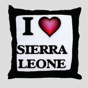 I love Sierra Leone Throw Pillow