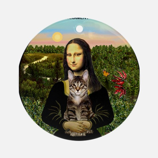 Mona's Tabby Cat Ornament (Round)