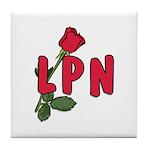 LPN Rose Tile Coaster