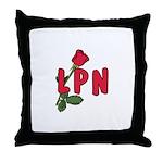 LPN Rose Throw Pillow
