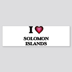 I love Solomon Islands Bumper Sticker