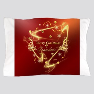 gold grandma text Pillow Case