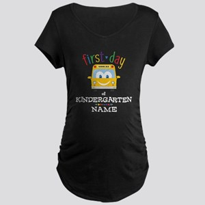 Custom Kindergarten Maternity Dark T-Shirt