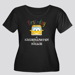 Custom K Women's Plus Size Scoop Neck Dark T-Shirt
