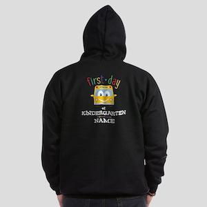 Custom Kindergarten Zip Hoodie (dark)