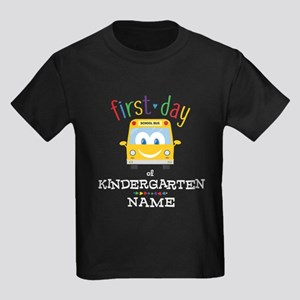 Custom Kindergarten Kids Dark T-Shirt