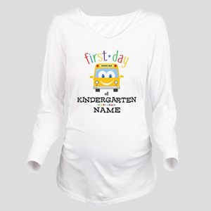 Custom Kindergarten Long Sleeve Maternity T-Shirt