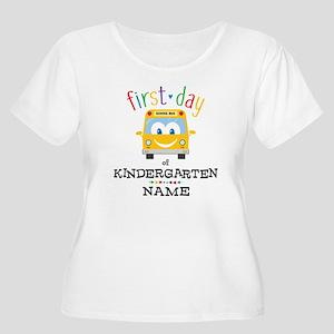 Custom Kinder Women's Plus Size Scoop Neck T-Shirt