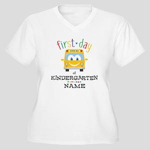 Custom Kindergart Women's Plus Size V-Neck T-Shirt