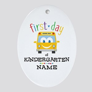 Custom Kindergarten Oval Ornament