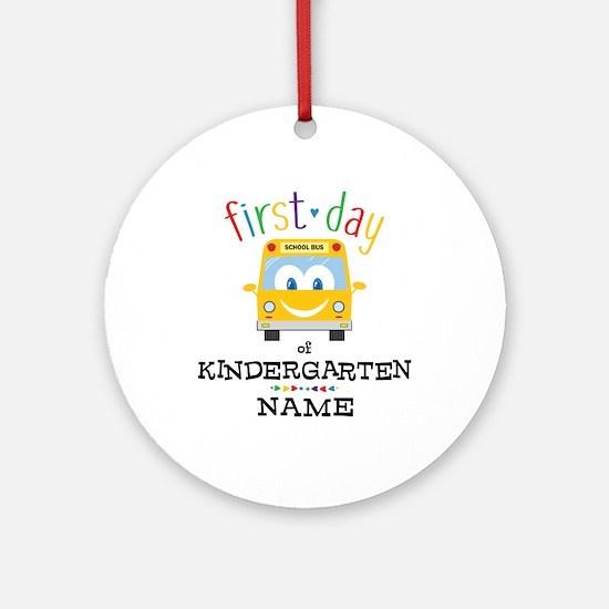 Custom Kindergarten Round Ornament