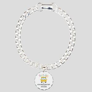 Custom Kindergarten Charm Bracelet, One Charm