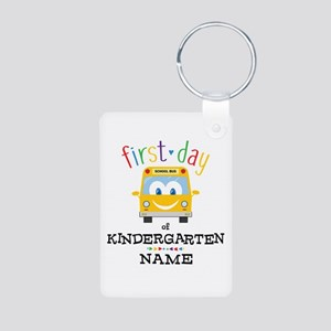 Custom Kindergarten Aluminum Photo Keychain