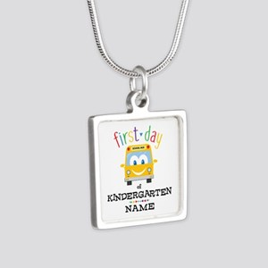 Custom Kindergarten Silver Square Necklace