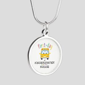 Custom Kindergarten Silver Round Necklace