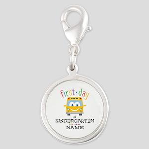 Custom Kindergarten Silver Round Charm