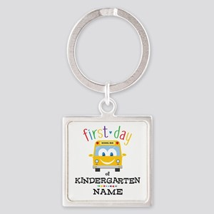 Custom Kindergarten Square Keychain