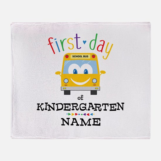 Custom Kindergarten Throw Blanket