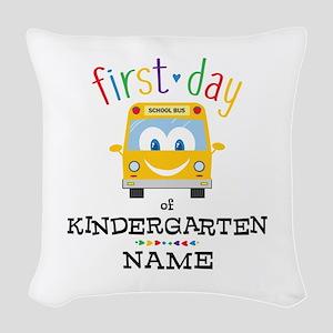Custom Kindergarten Woven Throw Pillow