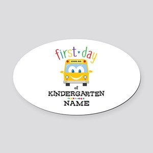 Custom Kindergarten Oval Car Magnet