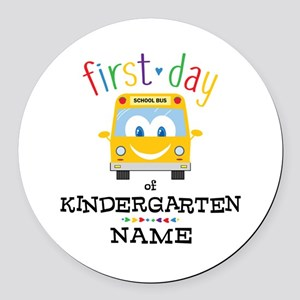 Custom Kindergarten Round Car Magnet